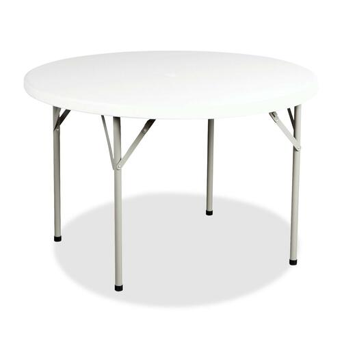 """Heartwood Lightweight Polypropylene Round Folding Table - Round Top x 60"""" Table Top Diameter - 29"""" Height - Granite - Steel"""