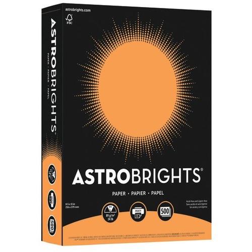 "Astrobrights Laser, Inkjet Colored Paper - Cosmic Orange - Letter - 8 1/2"" x 11"" - 24 lb Basis Weight - Smooth - 500 / Pack"