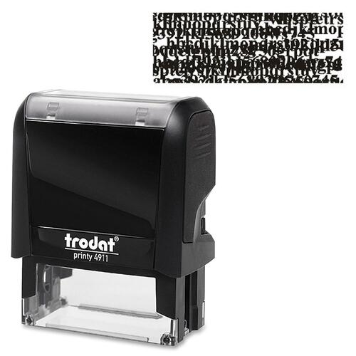 "Trodat Climate Neutral Self-Ink I.D. Protect Stamp - Message Stamp - 1.88"" (47.63 mm) Impression Width x 0.75"" (19.05 mm) Impression Length - Black - 1 Each"