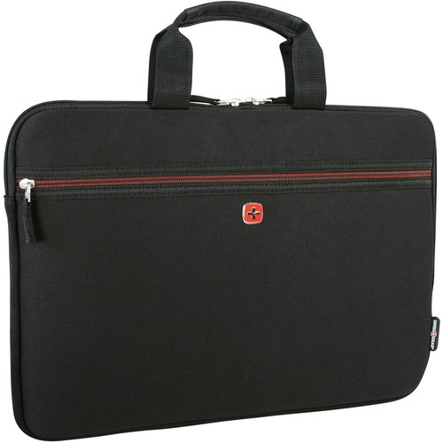 """Holiday Carrying Case (Sleeve) for 15.6"""" Notebook - Black - Neoprene - 1 Pack"""