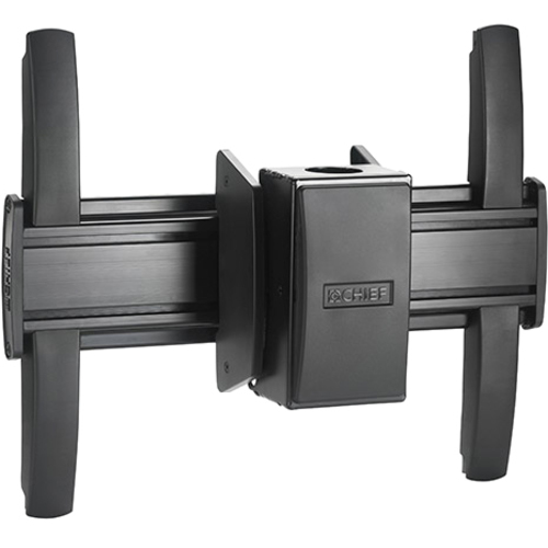 FUSION Medium Flat Panel Ceiling Mount, Black.