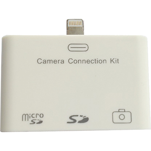 4XEM Lightning Camera Connection & Card Reader Kit For iPad/iPad Mini - SD/Micro-SD/USB