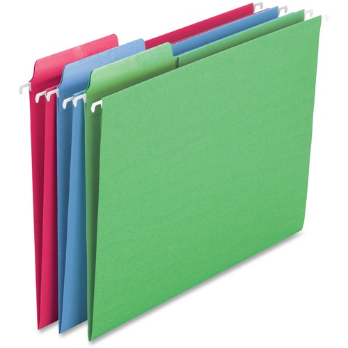 """Smead Erasable FasTab Hanging Folders - Letter - 8 1/2"""" x 11"""" Sheet Size - 1/3 Tab Cut - Top Tab Location - Assorted Position Tab Position - 11 pt. Fo"""