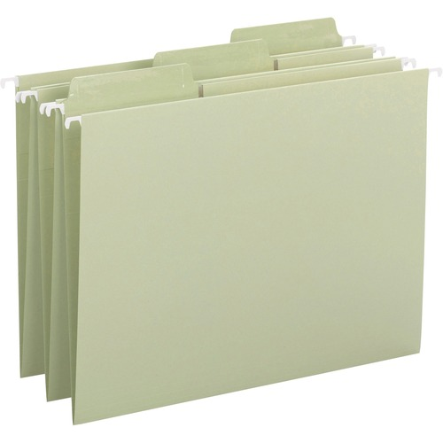 """Smead Erasable FasTab Hanging Folders - Letter - 8 1/2"""" x 11"""" Sheet Size - 1/3 Tab Cut - Top Tab Location - Assorted Position Tab Position - Paper - M"""
