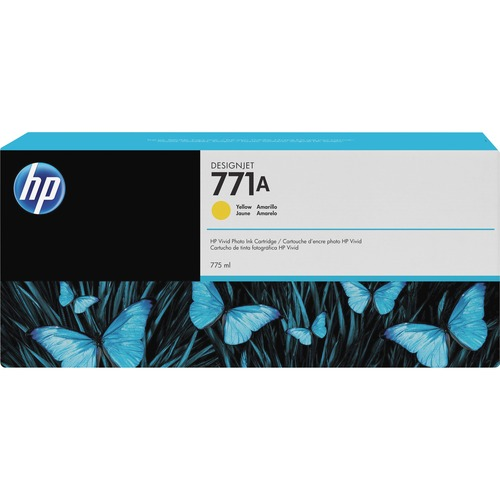 HP INC. - WIDE FORMAT INK 771A 775ML YELLOW INK CART F/ DESIGNJET Z6100 SERIES