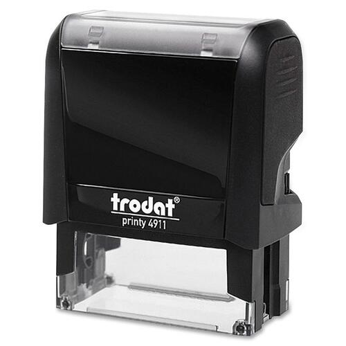 "Trodat Original Printy - Custom Message Stamp - 0.55"" (14 mm) Impression Width x 1.50"" (38 mm) Impression Length - Black - Plastic - 1 Each"