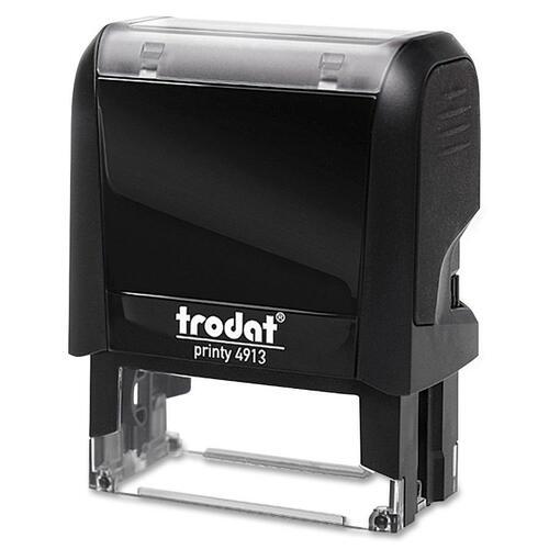 "Trodat Original Printy - Custom Message Stamp - 0.87"" (22 mm) Impression Width x 2.28"" (58 mm) Impression Length - Black - Plastic - 1 Each"