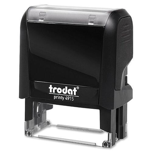 "Trodat Original Printy - Custom Message Stamp - 0.98"" (25 mm) Impression Width x 2.76"" (70 mm) Impression Length - Black - 1 Each"