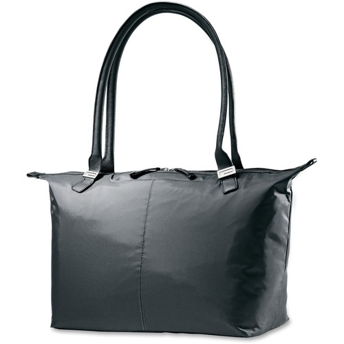 "Ladies Laptop Tote, Jordyn, Water Res,7.5""x21.3""x12"", Black"