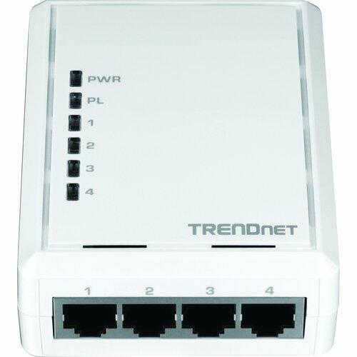 TRENDnet TPL-4052E 500Mbps Powerline AV Ethernet Adapter w/ 4-port switch