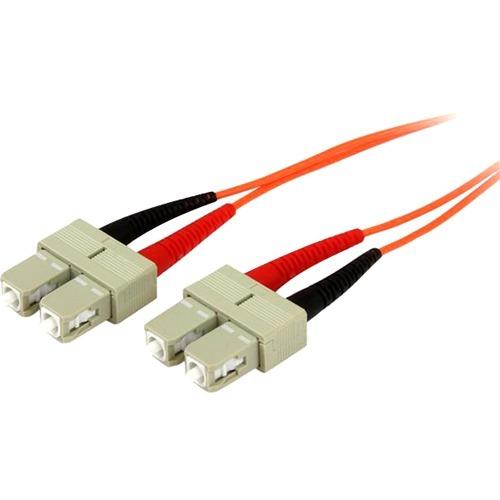 3m Fiber Optic Cable - Multimode Duplex 50/125 - OFNP Plenum - SC/SC - OM2 - SC to SC Fiber Patch Cable