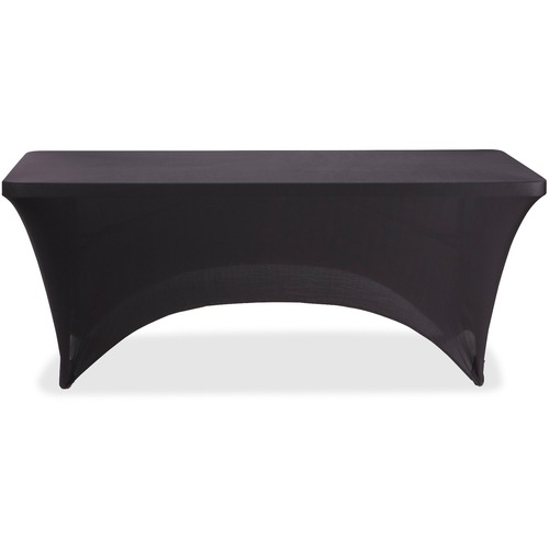 Iceberg 6' Stretchable Fabric Table Cover - Polyester, Spandex - Black - 1 Each