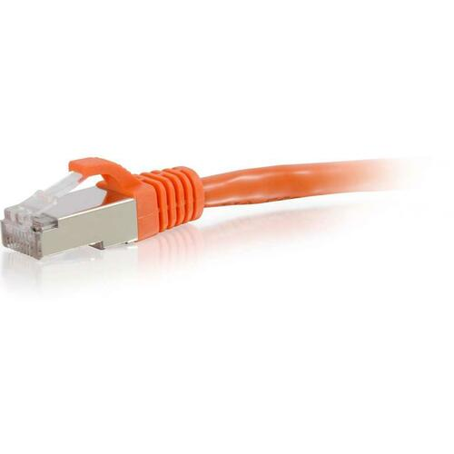 C2G 8FT CAT6 ORANGE SNAGLESS STP RJ45 PATCH CABLE