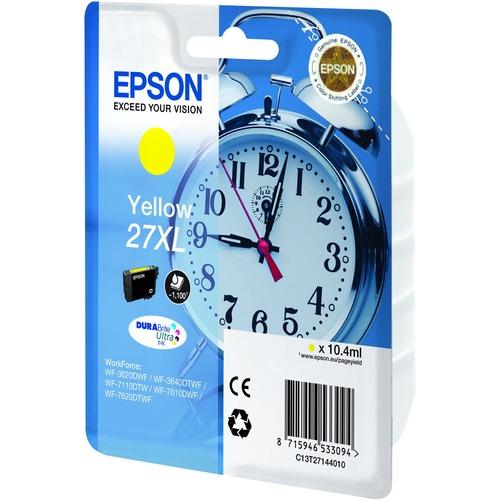 Epson DURABrite Ultra 27XL Ink Cartridge - Yellow