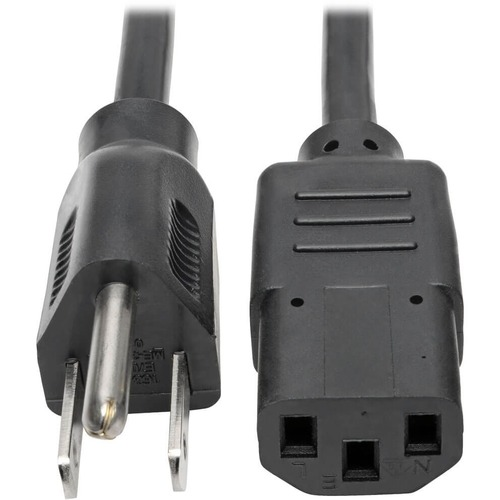 Tripp Lite 1ft Computer Power Cord Cable 5-15P to C13 10A 18AWG 1'
