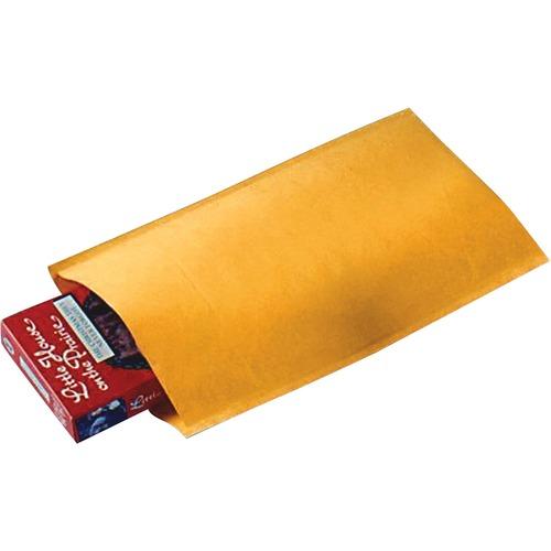 "Sealed Air Jiffylite Bulk-packed Cushioned Mailers - Padded - #000 - 4"" Width x 8"" Length - Self-sealing - Satin, Kraft - Gold"