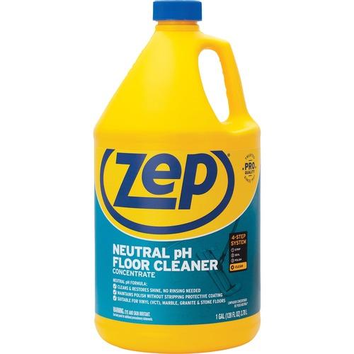 Zep Concentrated Neutral Floor Cleaner - Liquid - 128 fl oz (4 quart) - 1 Each - Blue