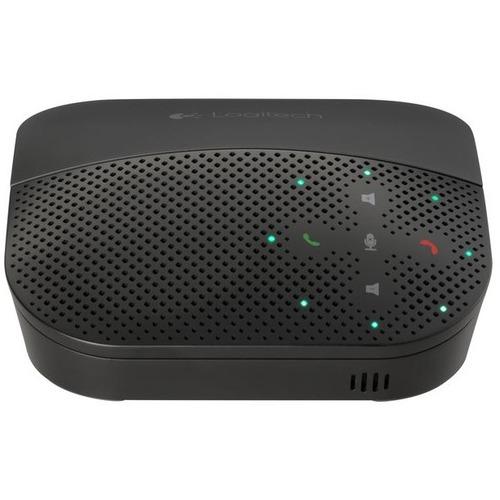 Logitech P710e Mobile Speakerphone - USB - Headphone - Black - 1 Pack