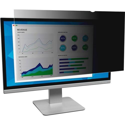 "3M PF19.5W9 Privacy Filter for Widescreen Desktop Monitor 19.5"" Black - 19.5""Monitor"