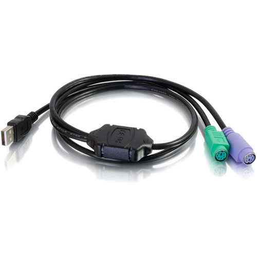 C2G 3FT USB M TO DUAL F PS2 ADAPTER CABLE
