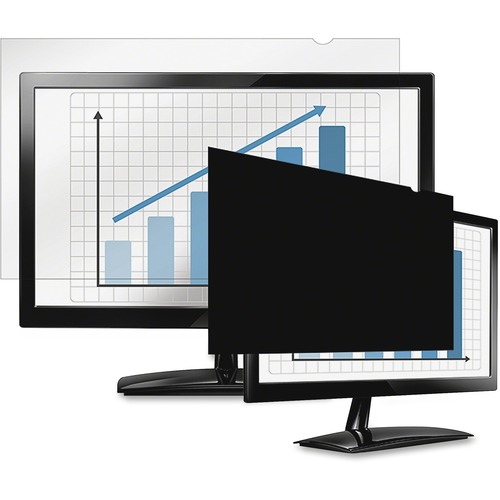 "Fellowes PrivaScreen Blackout Privacy Filter | 21.5"" Wide Black"