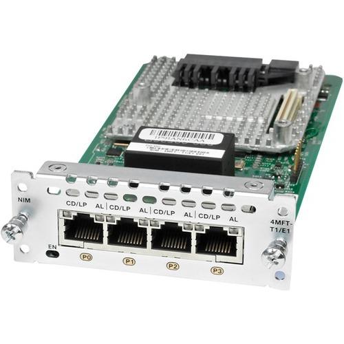Cisco 4 Port Multi-Flex Trunk Voice/Clear-Channel Data T1/E1 Module