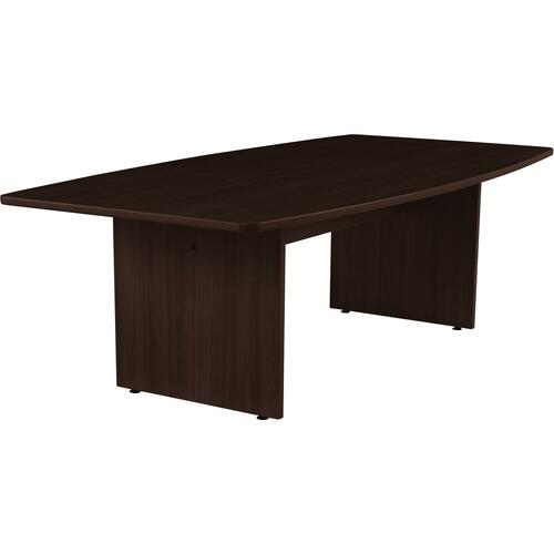 """Offices To Go 96"""" Boatshaped Conference Table - 96"""" x 48"""" x 29"""" x 1.1"""" - Material: Polyvinyl Chloride (PVC) - Finish: Dark Espresso, Laminate"""