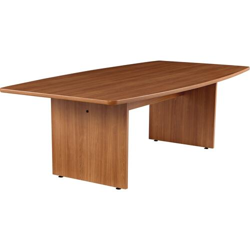 """Offices To Go 96"""" Boatshaped Conference Table - 96"""" x 48"""" x 29"""" x 1.1"""" - Material: Polyvinyl Chloride (PVC) - Finish: Laminate, Winter Cherry"""