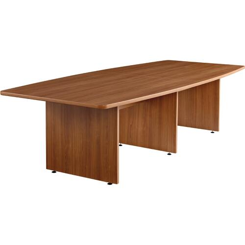 """Offices To Go 120"""" Boatshaped Conference Table - 120"""" x 48"""" x 29"""" x 1.1"""" - Material: Polyvinyl Chloride (PVC) - Finish: Laminate, Winter Cherry"""