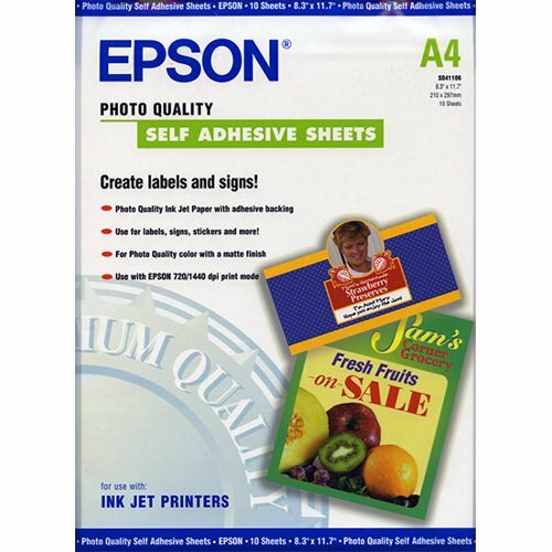 Epson C13S041106 Photo Paper - A4 - 210 mm x 297 mm - Matte - 10 x Sheet