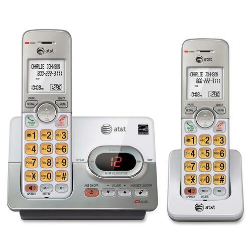 AT&T EL52203 DECT 6.0 Cordless Phone - 1 x Phone Line - 2 x Handset - Speakerphone - Answering Machine