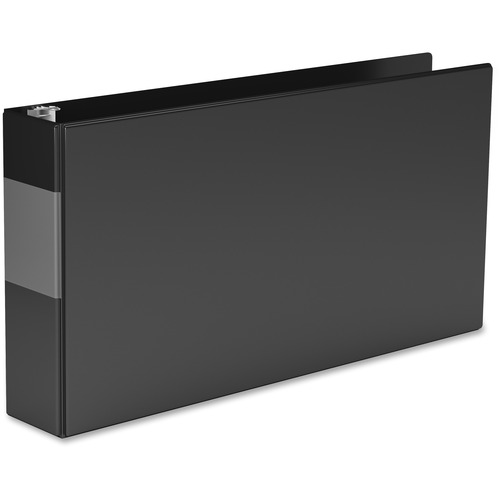 """QuickFit QuickFit Round Ring Deluxe Spreadsheet Binder - 2"""" Binder Capacity - Legal - 8 1/2"""" x 14"""" Sheet Size - Round Ring Fastener(s) - Black - Recycled - Heavy Duty - 1 Each"""
