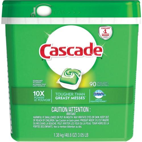Cascade Dishwashing Detergent - 1.38 kg - Fresh Scent - 90 / Pack