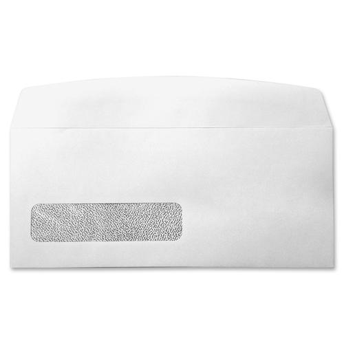 "Supremex Envelope - Single Window - #10 - 9 1/2"" Width x 4 1/8"" Length - Flap - Wove - 500 / Box - White"