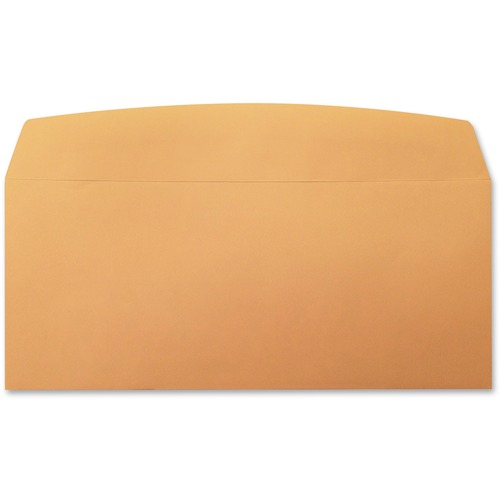 "Supremex Envelope - #10 - 9 1/2"" Width x 4 1/8"" Length - Flap - Kraft - 500 / Box - Natural"