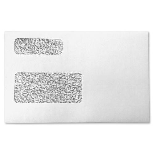 "Supremex Envelope - Double Window - 9"" Width x 5 3/4"" Length - 24 lb - Wove - 500 / Box - White"