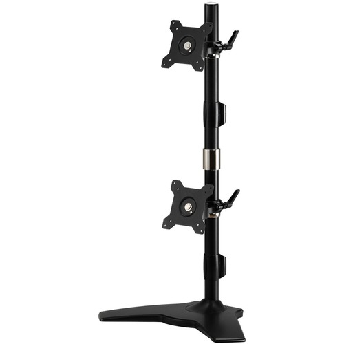 "Amer Mounts Stand Based Vertical Dual Monitor Mount for two 15""-24"" LCD/LED Flat Panels"