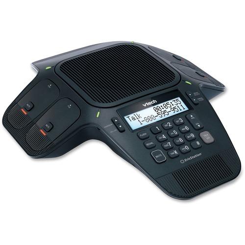 VTech ErisStation VCS704 DECT 6.0 Conference Phone - 150 ft (45.7 m) Range - 1 x Phone Line - Speakerphone - Backlight