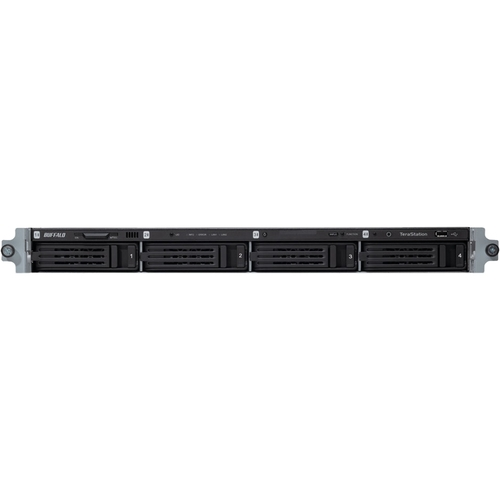 Buffalo TeraStation TS3400R 4 x Total Bays NAS Server - Rack-mountable - 1 x Marvell ARMADA XP MV78230 Dual-core 2 Core 1.86 GHz - 16 TB HDD 4 x 4 TB - 1 GB RAM