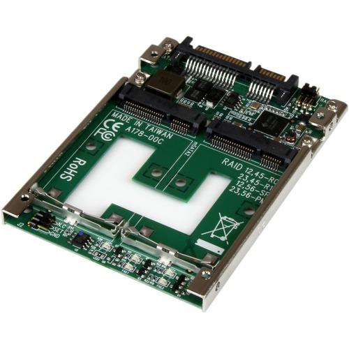 StarTech.com Dual mSATA SSD to 2.5inch SATA RAID Adapter Converter - Serial ATA/600 Controller - SATA/600