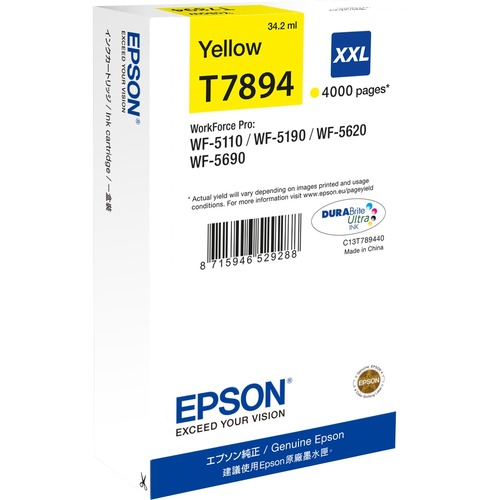 Epson Yellow Ink Cartridge - C13T789440