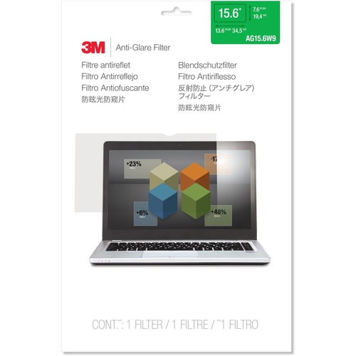 """3M AG15.6W9 Anti-Glare Filter for Widescreen Laptop 15.6"""""""