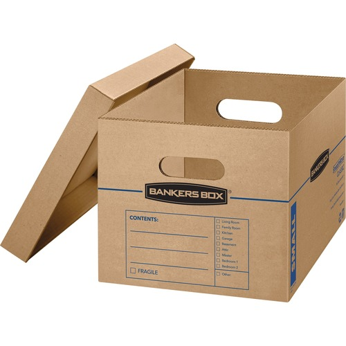 FELLOWES 10PK SMOOTHMOVE MOVING BOX LETTER LEGAL SIZE WITH ATTACHED LID