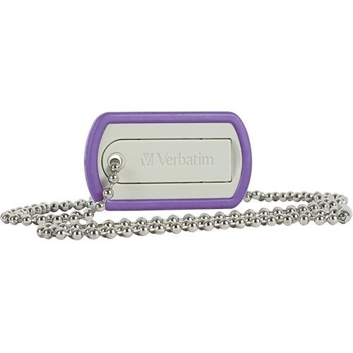 Verbatim 16GB Dog Tag USB Flash Drive | Violet