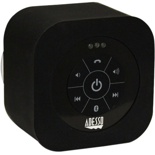Adesso Xtream Xtream S1B Speaker System - Battery Rechargeable - Wireless Speaker(s) - Black