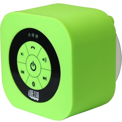 Adesso Xtream Xtream S1G Speaker System - Wall Mountable, Portable - Battery Rechargeable - Wireless Speaker(s) - Green
