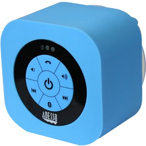 Adesso Xtream Xtream S1L Speaker System - Wall Mountable, Portable - Battery Rechargeable - Wireless Speaker(s) - Blue