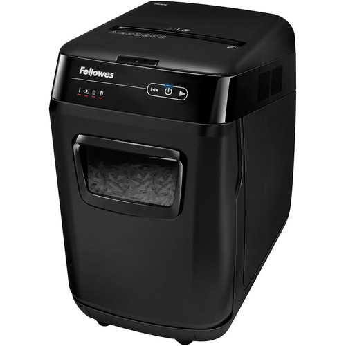 """Fellowes AutoMax™ 200C Auto Feed Shredder - Non-continuous Shredder - Cross Cut - 10 Per Pass - for shredding Staples, Paper Clip, Credit Card, CD, DVD, Junk Mail, Paper - 0.2"""" x 1.5"""" Shred Size - P-4 - 3.35 m/min - 9"""" Throat - 12 Minute Run Time -"""