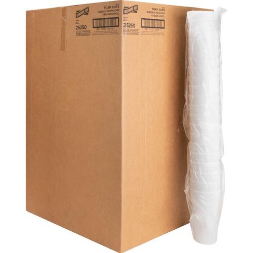 Genuine Joe Styrofoam Cup - 591.47 mL - 500 / Carton - White - Foam - Hot Drink, Cold Drink