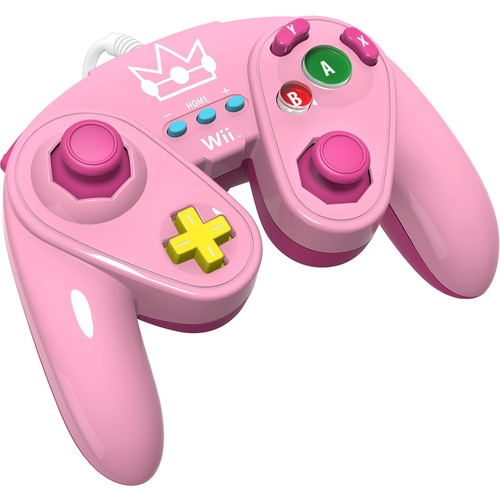 WIRED FIGHT PAD FOR WII U - PEACH